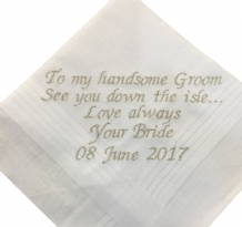 PERSONALISED GENTS HANDKERCHIEF